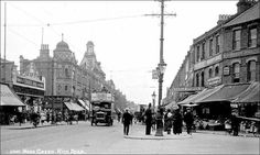 Wood Green High Road looking south from the junction of Alexandra Road Local History, Family History, High Road, North London, Time Travel, Past, Street View, Wood, Green