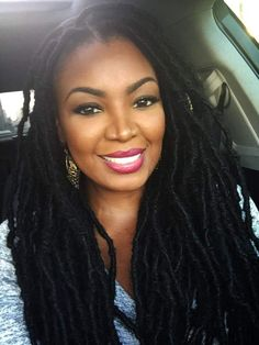Beyond Gorgeous! love her dreads! Goddess Locs, Dreadlock Hairstyles, Cool Hairstyles, Hairstyle Ideas, Party Hairstyle, Curly Hair Styles, Natural Hair Styles, Pelo Natural, Natural Hair Inspiration