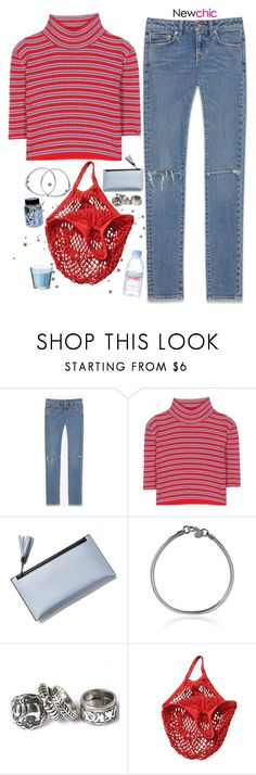 """""""Can't Explain // Newchic"""" by lsaroskyl ❤ liked on Polyvore featuring Yves Saint Laurent, Alessandra Rich and Evian"""