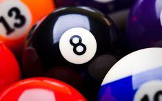 Download wallpapers 4k, billiard, balls, close-up