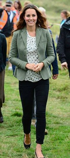 Kate Middleton in Anglesey, Wales - first engagement since the birth of Prince George