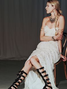 Free People Monique Lurex Chiffon Gown, $550.00