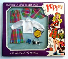PALITOY PIPPA DOLL MONTE CARLO COLLECTION CLOTHES 1970s IN ORIGINAL PACKAGING   93.07+1.25