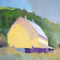 Rodger Bechtold Michigan b. 1945 Driftless Valley Barn