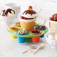 Ceramic Ice Cream Toppings Caddy - Sur la Table
