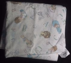 $9.99 Precious Moments Vintage Fabric 4 yds Nursery Baby Lion Bunny Boy Girl #PreciousMoments