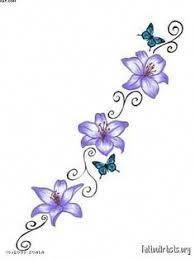 girl back tattoos Tattoo Girls, Girl Back Tattoos, Back Tattoo Women, Pretty Tattoos, Cute Tattoos, Small Tattoos, Small Lily Tattoo, Tatoos, Flower Vine Tattoos