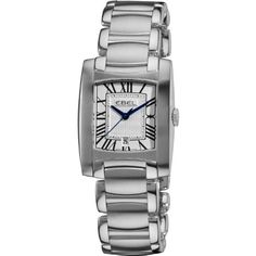 Women's Wrist Watches - Ebel Brasilia Womens Silver Dial Stainless Steel Quartz Watch 9257M3161500  1216036 -- Check out this great product.
