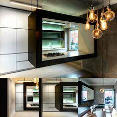 """#architecture #archilovers #architecturephotography #design #interiordesign #modern #modernkitchen #mykitchen  #falmec #corian  #wood #kc1 #resin…"""