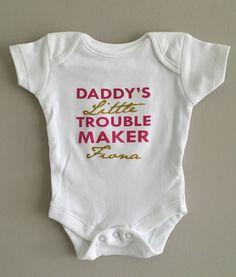 4705bc28d808f PERSONALISED baby girl GOLD GLITTER slogan clothing babygrow vest babyshower