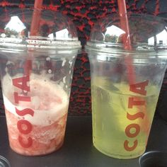 Costa watermelon and strawberry cooler and iced lemonade | Summer Drinks