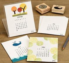 10 Diy Calendars For 2012