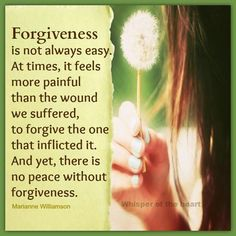 Forgiveness isnt easy
