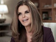 Maria Shriver, this is a great cut and style for a square face.