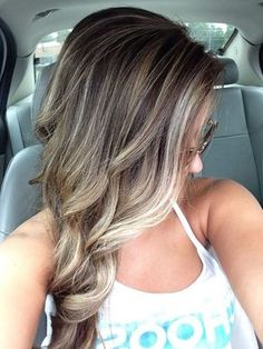 New blonde and brown hair!!...hair color ideas for brunettes for summer