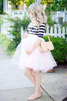 girly tulle skirt