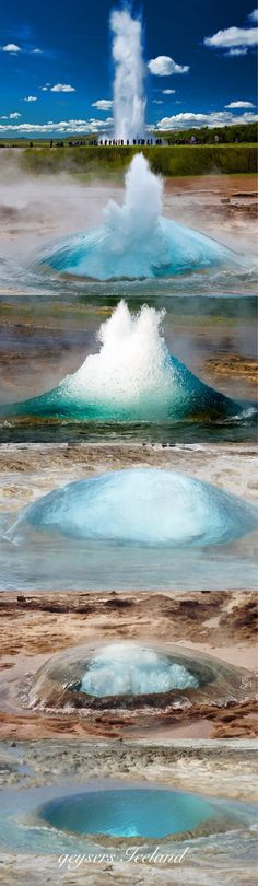 Strokkur errupts every 10 minutes or so. Geyser, only Icelandic word that made it into English. (Every Minutes)