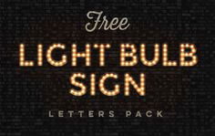 These vintage style light bulb signs have been crafted using Photoshop's 3D tools and combined with special lighting effects to create a full alphabet of letters that can be …
