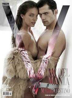 Emily Didonato & Sean O'Pry by Mario Testino for V Magazine V Magazine, Fashion Magazine Cover, Fashion Cover, Magazine Covers, Magazine Spreads, Sean O'pry, Emily Didonato, Mario Testino, Natalia Vodianova