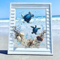 Sea Turtle Gifts, Sea Turtle Art, Turtle Beach, Sea Turtles, Beach Wall Decor, Coastal Wall Art, Coastal Decor, Diy Resin Wall Art, Resin Art