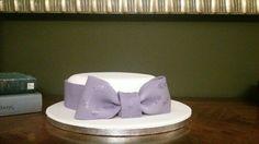 Birthday cake-Purple bow-sugarpaste