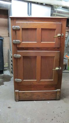 Vintage Antique Wood Ice Box 2 Door PLEASE Make an Offer Local Pickup Only. $700.00, via Etsy.