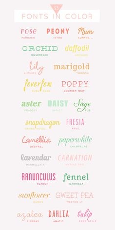 25 free colorful fonts | A Subtle Revelry