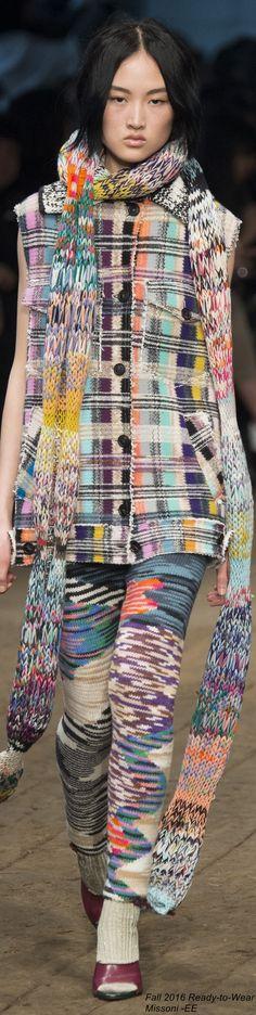 #Farbbberatung #Stilberatung #Farbenreich mit www.farben-reich.com Fall 2016 Ready-to-Wear Missoni