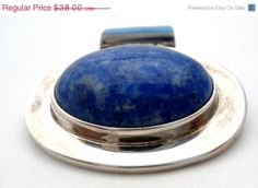 ON SALE Lapis Luzuli Sterling Silver Slide by TheJewelryLadysStore, $30.40