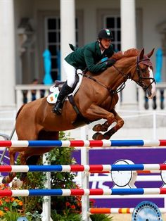 LONDON, ENGLAND - AUGUST 04:  Jose Roberto Reynoso Fernandez Filho of Brazil riding Maestro St Lois competes in the 1st Qualifier of Individual Jumping on Day 8 of the London 2012 Olympic Games at Greenwich Park on August 4, 2012 in London, England.  (Photo by Alex Livesey/Getty Images)