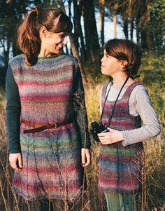Revista principiantes 4 Otoño / Invierno | 37: Mujer Vestido | Lila-Violeta oscuro-Verde oscuro