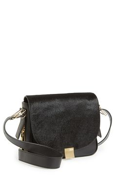 Calf Hair & Leather Crossbody Bag from @nordstrom