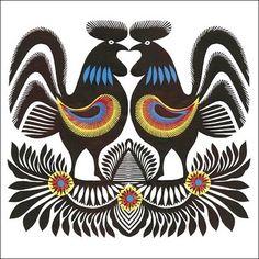 i love those deco #birds #folk #etno #polish #blue #traditional