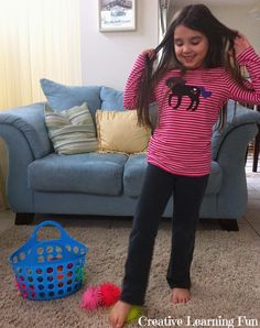 Gross Motor Activity: Picking up toys with your toes - Pinned by Please Visit for all our pediatric therapy pins Gross Motor Activities, Gross Motor Skills, Sensory Activities, Therapy Activities, Pediatric Occupational Therapy, Pediatric Ot, Kids Obstacle Course, Motor Planning, Therapy Tools