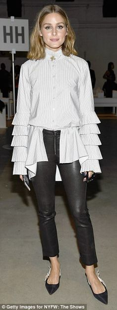 'It' girls: Trendsetting star Olivia Palermo, 31, isn't afraid to make a statement in bold...