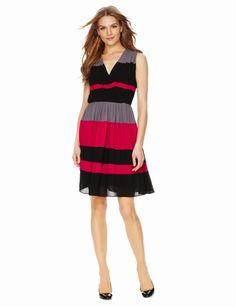 Striped Pleated Dress