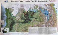 route of the Ice Age floods from Missoula Lake, Montana down thru central Washington - click to enlarge - Dry Falls is located in central Washington State