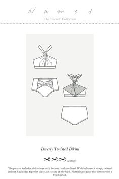 Beverly Twisted Bikini by Named Clothing Pattern Preview 1 | Indiesew.com