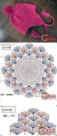 Crochet Hat - Chart ❥ 4U // hf