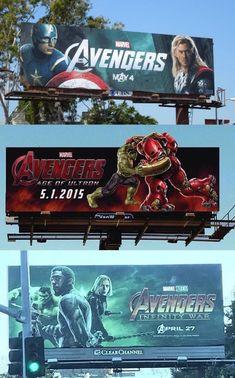 Avengers Billboard Progression