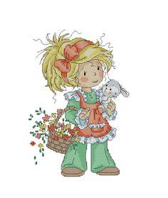 bambina con cesto