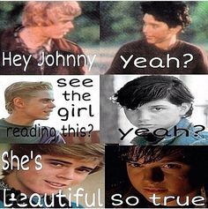 the outsiders johnny and ponyboy love meme - Google Search