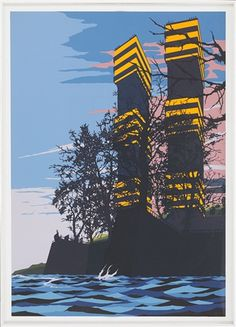 View Live For It by David Thorpe on artnet. Browse upcoming and past auction lots by David Thorpe. Invisible Cities, A Level Art, Urban Life, Artist Painting, Traditional Art, Paper Cutting, Art Inspo, Interior And Exterior, Concept Art