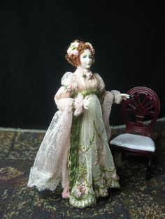 Miniature 1/12 scale Doll House Porcelain Doll by KaysStudio