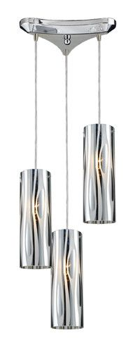 ELK Lighting 31078-3 Chromia Three Light Pendant In Polished Chrome