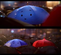 The Blue Umbrella By Pixar And Red Certainly Look Happy Together