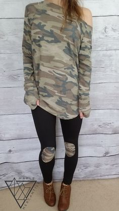 5daed3a848c61 10 Best Camo Top images | Casual styles, Camo shirts, Casual outfits