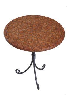 5 mesa lateral  de ferro tampo de machetaria| COMPLEMENTS - Ambientações para festas & eventos