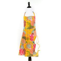Kantha Apron Yellow
