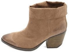 Charlotte Russe Qupid Cuffed Pointed Toe Ankle Boots on shopstyle.com